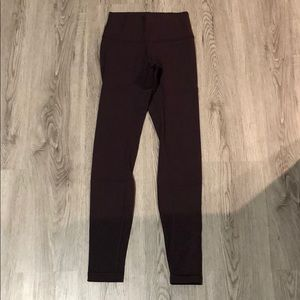 Lululemon Highwaisted Wonder Under Tight Burgundy